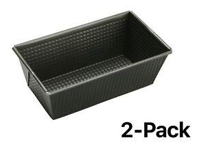 Norpro Nonstick Heavy Gauge Steel Bread Pan 8 x 4.5 x 3 Inches (Pack of 2)