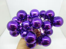 Gorgeous Lot of 25 Vintage Christmas Glass Purple Picks Wreaths Corsage Crafts