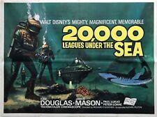 20,000 Leagues Under The Sea 1963 Re-Release Quad Poster Walt Disney Jules Vern