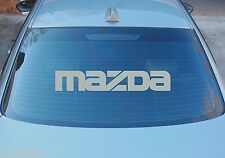 MAZDA LARGE REAR WINDOW STICKER GRAPHICS 580mm x 100mm CHOICE OF COLOURS