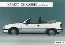 OPEL KADETT CABRIO Cabriolet GSi BERTONE Prospekt Brochure Sheet AUSTRIA 1987 18