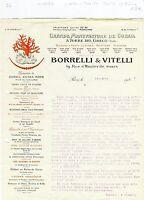 ITALIE & Paris X ème - Belle Entête Grande Manufacture de Corail de 1922 A Voir!