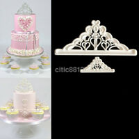 Fondant Cake Cutter Plunger Cookie Mold Sugarcraft Crown Decorating Mould UK