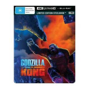 Godzilla vs Kong 4K Ultra HD + Blu-ray Limited Edition Steelbook BRAND NEW