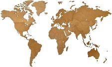 Wanddekoration Weltkarte 180 X 108 Cm Naturholz