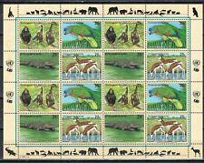 VN UNO New York 1994 vel 663-660 Bedreigde dieren (II) cat waarde € 14