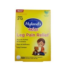 Hyland's 4Kids Leg Pain Relief Homeopathic 50 Quick Dissolving Tablets Ages 2-12