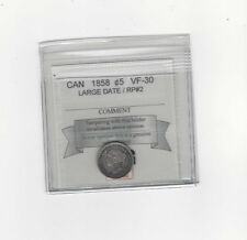 **1858 LD / RP2**, Coin Mart Graded Canadian,  5 Cent, **VF-30**