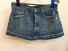 CHIP & PEPPER Bare Baller Short Denim Mini Skirt Distressed Frayed 31 Measur. 34