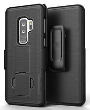 Samsung Galaxy S9 Plus Belt Clip Holster Case, Black Shell Combo - Encased