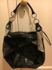 Bebe - Women's Large Shoulder Bag - Black & Silver (Pre-Owned)