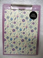 Wanderlust A5 Lined To Do List Pad & Clipboard Shopping Jotter Memo Lilac & Blue