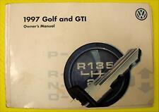 Golf & GTI 97 1997 VW Volkswagen Owners Owner's Manual Gasoline Diesel