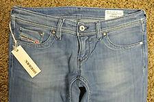 DIESEL LOWKY 8IG  Sexy Distressed Jeans 25X34 NWT$200 Italian! Straight Stretch!