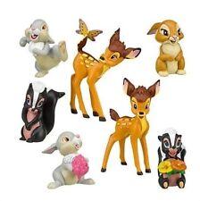 Bambi Thumper Flower Playset 7 Figure Cake Topper * USA SELLER* Toy Doll Set