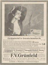 Y6469 GRUNFELD'S Gesichtstuch - Pubblicità d'epoca - 1927 Old advertising