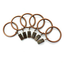 Xin store 40-pack Copper Metal hang home bedroom Curtain Rings with Clips 1 inch