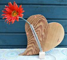 Holzherz mit Beleuchtung - Herz - Deko - Tischdekoration - Valentinstag