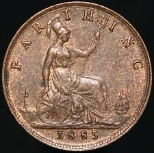 More details for 1885   victoria farthing   bronze   coins   km coins