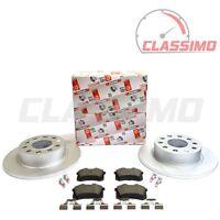 Ferodo Rear Brake Discs & Pads for AUDI A3 8P - 1.2 1.4 1.6 1.8 1.9TDi 2.0TDi