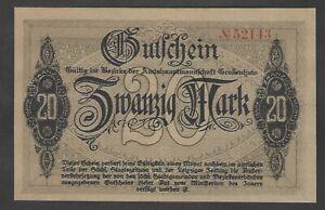 Großenhain, Amtshauptmannschaft; 20 Mark vom 1. November 1918