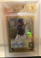 2015 Bowman Chrome Jake Bauers Gold Refractor /50 BGS 9.5 Auto 10 RC Rookie
