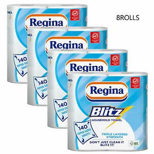 Regina Blitz 3 Ply Kitchen Towel Jumbo Rolls Household Towel offer 8 Rolls