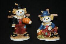 Autumn Fall Halloween Scarecrow Figurines Home Interiors Homco ~ Garden Friends