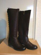 Ravel Upton Heeled Knee High Boots Chocolate Leather UK 4 EURO 37 RRP £125.00!!!