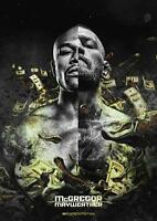 CONOR MCGREGOR V FLOYD MAYWEATHER FIGHT POSTER UFC Boxing Poster A4 A3
