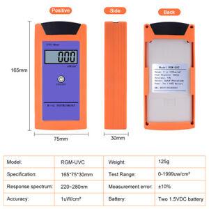 UVC Light Meter UV Radiation for Reptile Irradiance Luminosity Measurement