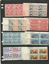 US Airmail Collection of 18Different Plate Number Blocks from 1947 to 1976 MNH