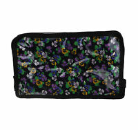 Women's Black Floral Cosmetic Bag New