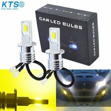 H3 Led Fog Lights Conversion Bulbs Kit 35W 4000Lm 3000K Yellow Error Free Us