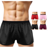 Men Silk Satin Sleepwear Underwear Lounge Sports Boxers Shorts Beach Panties