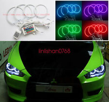 RGB Multi-Color Angel Eyes kit Halo Rings For Mitsubishi Lancer X 10 2007-2017