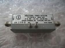 CDI Coaxial Dynamics Directional Power Detector 3030 225-400 MHz 6W-24W RF VHF