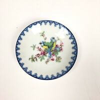 Vintage Dish Genuine Porcelain Floral Bird Blue Detail Made in Japan