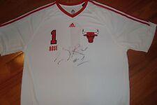 RARE rookie Chicago Bulls DERRICK ROSE Signed auto Jersey game warm up COA JSA