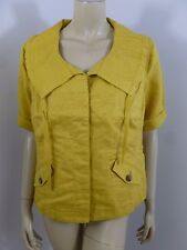 Coldwater Creek Petites Yellow Short Sleeve Jacket Top Woman Size 14 P14