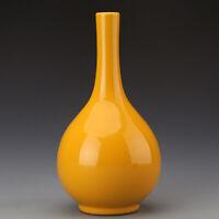 """10.2"""" Old Chinese Fine Antique Porcelain yongzheng marked yellow glaze Vase"""