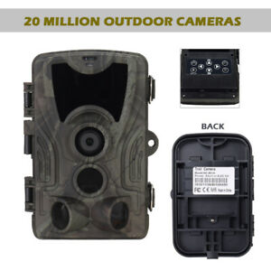36 LCD LED 1080P HD 20MP Video Hunting Camera IR Forest Wildlife Trail Cam Trap