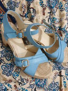 Sky Blue, block heels by ValleyGirl