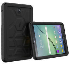 For Samsung Galaxy Tab S2 8.0 Turtle Skin Tactile side Grip Protection Case BLK