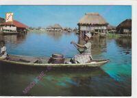 CPSM AFRIQUE AFRICA BENIN En route pour GANVIE pirogue Edt SAPEC ca1993