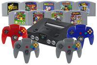 Nintendo 64 / N64 Konsole + 1 2 3 4 Controller, Strom, Kabel & Spiel-Klassiker