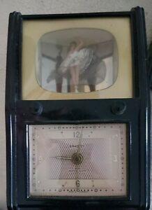 VINTAGE BALLERINA IN TV MUSIC BOX / BRADLEY ALARM CLOCK