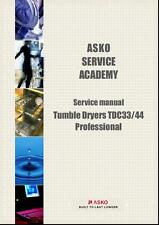 Repair Manual: Asko Washers & Dryers (Choice of 1 manual, Models in description)