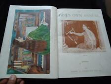 The Girl's Own Annual XIX 1897-1898 Girls Own Paper illustrated Victorian era