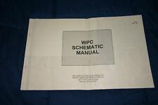 Williams Pinball Wpc Schematic manual (#Man207)
